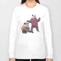 big poppa Long Sleeve T-shirts featuring big poppa panda by K.Fields