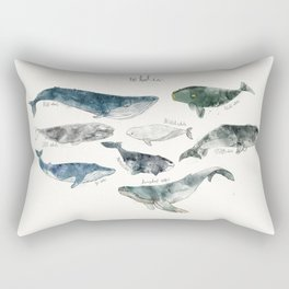 Whales Rectangular Pillow