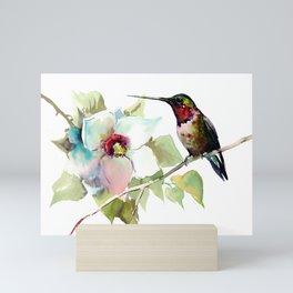 Hummingbird and White Magnolia Mini Art Print