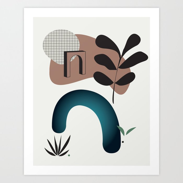 Shape study #8 - Synthesis Collection Art Print