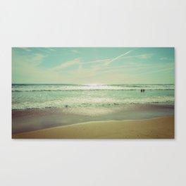 Beach Caparica Canvas Print
