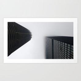 Foggy chicago Morning 001 Art Print