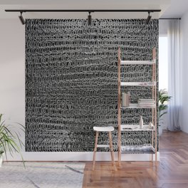 Silver Chain Maille Wall Mural