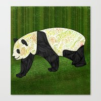 panda Canvas Prints featuring Panda by Ben Geiger