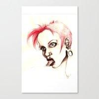 rebel Canvas Prints featuring rebel by cistus skamberji
