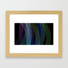 Lights on. Framed Art Print