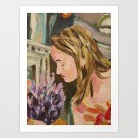 Oak Bay Flower Market Art Print