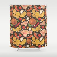 indonesia Shower Curtains featuring Indonesia Spices by haidishabrina