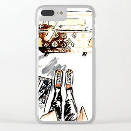 Lugguage Clear iPhone Case