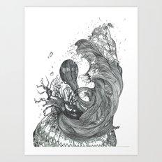 Eatsleepdraw cover art - liquid theme Art Print
