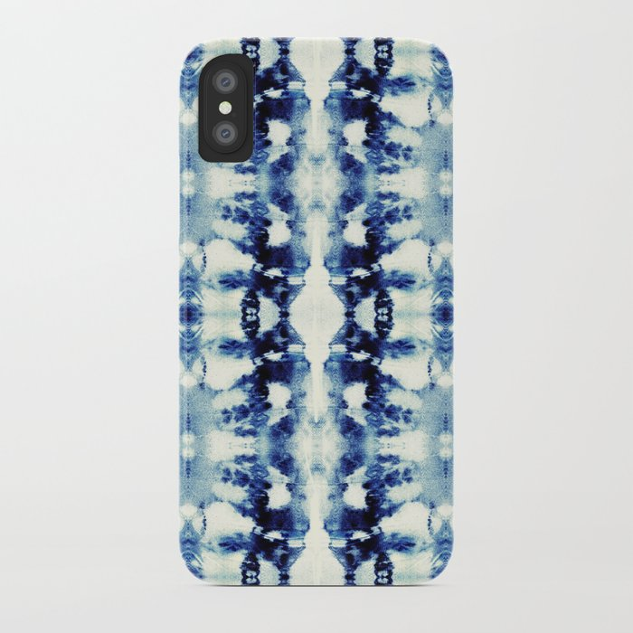 Tie Dye Blues iPhone Case