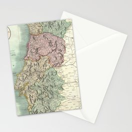 Vintage Map of Portugal (1801) Stationery Cards