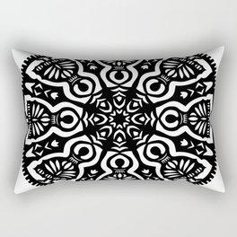 Polish Papercut Dancers Black Rectangular Pillow