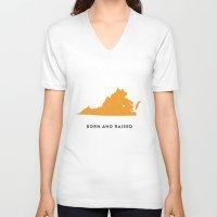 virginia V-neck T-shirts featuring Virginia by Hunter Ellenbarger