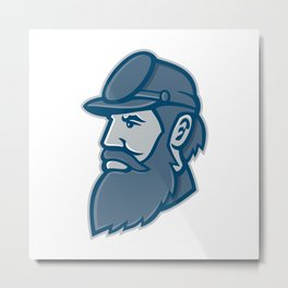 General Stonewall Jackson Mascot Metal Print