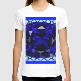 BLUE  SAPPHIRE DECEMBER GEM BIRTHSTONE MODERN ART T-shirt