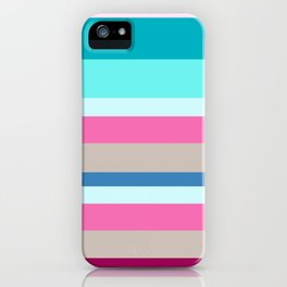 Happy Place Wide Stripe iPhone Case