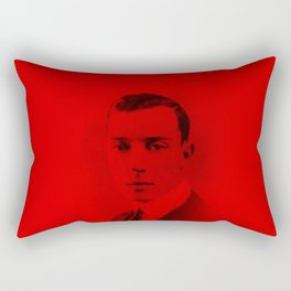 Buster Keaton - Celebrity (Photographic Art) Rectangular Pillow