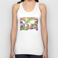 map of the world Tank Tops featuring world map by Bekim ART