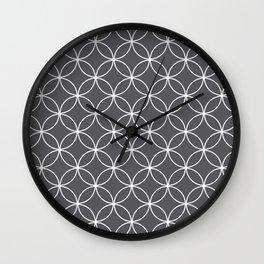 Circles Graphite Gray Wall Clock