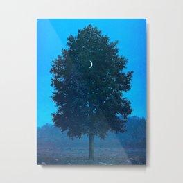 Rene Magritte - Le Seize Septembre - 1956 Moon Through Tree Surrealism Metal Print