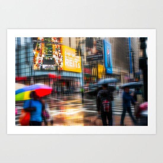 Rainy day in New York City Art Print