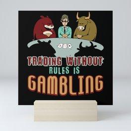 Stock Market Game Mini Art Print
