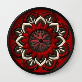 Wonderful noble mandala design Wall Clock