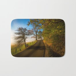 Smoky Morning - Whimsical Scene in Great Smoky Mountains Bath Mat