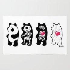 Panda Anatomy Rug