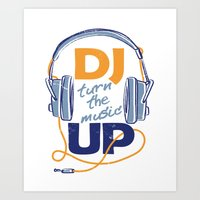 dj Art Prints featuring DJ by Danilo De Donno