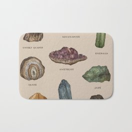Gems and Minerals Bath Mat