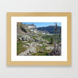 Boulder Pass Glacier National Park Framed Art Print