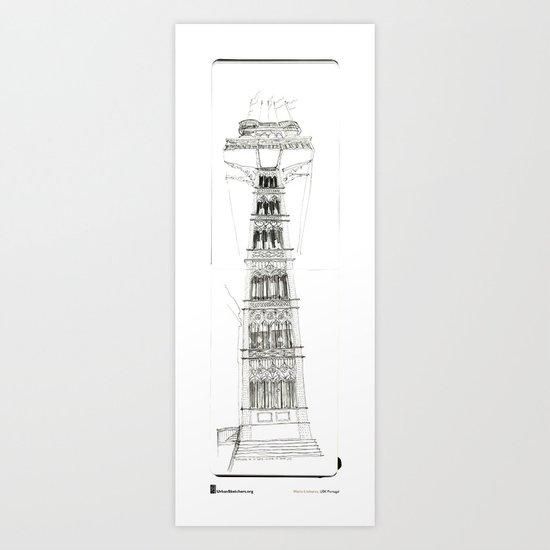 """Mário Linhares"""" Lisboa Lift"""" Art Print"""