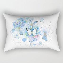 Dreamcatcher No. 1 - Butterfly Illustration Rectangular Pillow