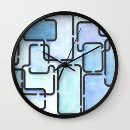 Office Blues Wall Clock