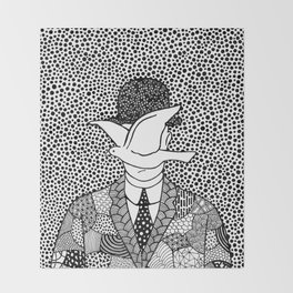 Man in a bowler hat. Magritte Throw Blanket