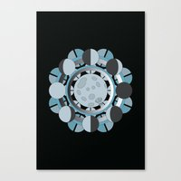 moon phases Canvas Prints featuring Moon Phases by TypicalArtGuy