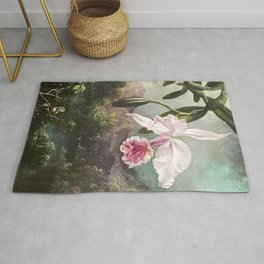 Orchid Blossoms (1873) by Martin Johnson Heade Rug