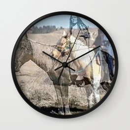 She never rides alone Wall Clock