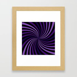 Purple Hypnotizing Swirl Framed Art Print