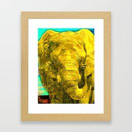 Sunshine Yellow Elephant art Framed Art Print