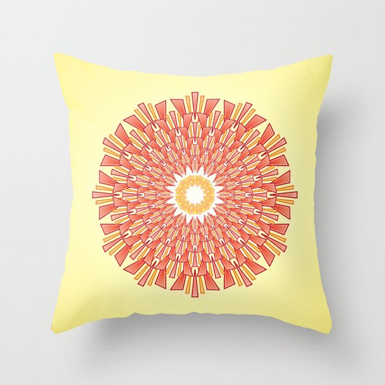 Spring Red Throw Pillow