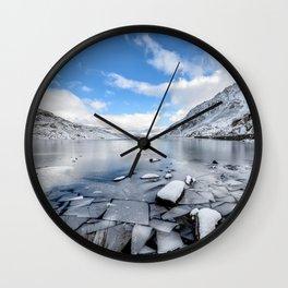 Broken Ice Wall Clock