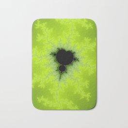 Fractal Mandelbrot Green Bath Mat