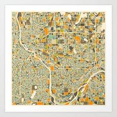Twin Cities MAP Art Print