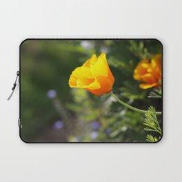 Sunlit Eschscholzia californica Laptop Sleeve