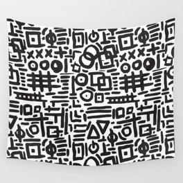ABSTRACT 4 - BLACK & WHITE Wall Tapestry