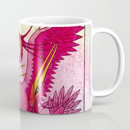 Birds red and very beautiful dance on the shore Coffee Mug