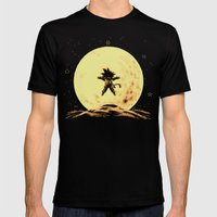 Full Moon Mens Fitted Tee LARGE Black